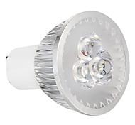 3W GU10 Lâmpadas de Foco de LED 3 LED de Alta Potência 270 lm Branco Natural Regulável AC 220-240 V