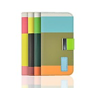Angibabe Rainbow Color Stripe Leather Case with Card Slot iPhone 6 Case 4.7 inch