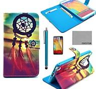 Coco fun® padrão nó chinês estojo de couro pu com protetor de tela, caneta e stand para Samsung Galaxy nota 3