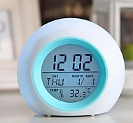 Coway Creative Mini Light Colorful Luminous Alarm Clock For LED Nightlight