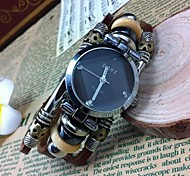 Women's Fashion High-grade Leather Quartz Movement Bracelet Watches