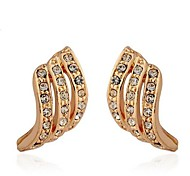 Fashion Zircon Twisted Earring(Assorted Color)