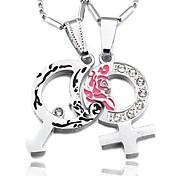 Diamond Stitching Couple Necklace