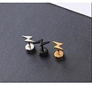 europei orecchini in titanio acciaio fulmine (multicolor) (3 pc)