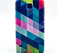 Color Diamond Pattern TPU Soft Case for S5 I9600