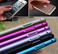 Ultra-thin Aluminum Buckle Open Metal Bumper Case Cover For iphone 6 (Assorted Color)