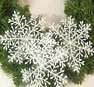 15PCS Christmas Decoration White Snowflake Ornaments 22CM