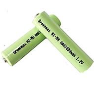 2pcs Greenmax 1.2v 1000mAh aaa batteria Ni-MH ricaricabile