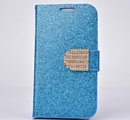 Fashion PU Leather Diamond Full Body Case with Stand for SAMSUNG GALAXY S4 I9500