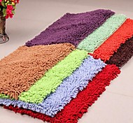 Fashion Solid Shag Chenille Microfiber Skid Floor Carpet Mat 40*60cm
