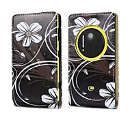 Для Кейс для Nokia Флип Кейс для Чехол Кейс для Цветы Твердый Искусственная кожа Nokia Nokia Lumia 1020