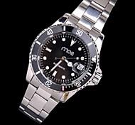Kalenderstil silberne Zifferblatt Stahl analoge automatische mechanische Armbanduhr ar Frauen
