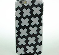 Black White X Pattern Hard Case for iPhone 6