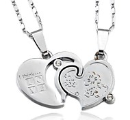 Thinking Love Couple Necklace