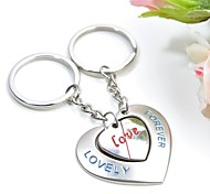 Personalized Engraving Lovely Forever Metal Couple Keychain