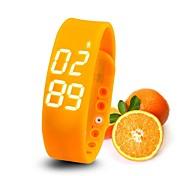 adelgaza reloj pulsera inteligente tiempo de monitorización de temperatura poligrafía podómetro del sensor de movimiento lada digitales