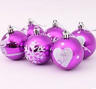 Christmas Tree Decoration Coloured Drawing Ball