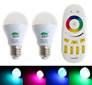 Zweihnder E26/E27 6 W 1 Integrate LED 450 LM RGB G Dimmable/Remote-Controlled/Decorative Globe Bulbs AC 85-265 V