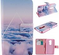 Beautiful Clouds Design PU Leather Full Body Case with Stand and Card Slot for LG G2/D802
