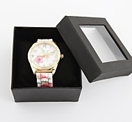 Personalized Fashionable Women's Watch Fashion Colorful Flower Pattern Silicone Band