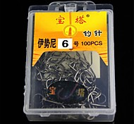 6 Fishing Pin Fishhook (100 PCS)