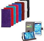 Crazy Horse Leather Wallet Flip Case with Card Holder And Stand Function for Samsung S4 I9500 (Assorted Colors)