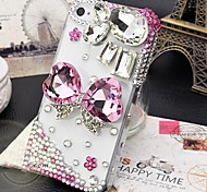 4.7 Inch Two Heart-shaped  with Diamond Hard Back Cover for iPhone 6 (Assorted Colors)