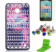 For Nokia Case Pattern Case Back Cover Case Geometric Pattern Hard PC Nokia Nokia Lumia 630