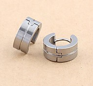 Fashion Stainless Steel  Earrings Random Color