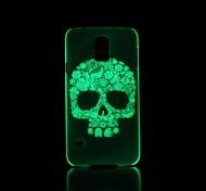 Skull Pattern Glow in the Dark Hard Case for Samsung Galaxy S5