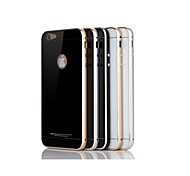 Luphie Tempered Glass Back Cover with Metal Bumper for iPhone 6 Plus (Assorted Color)