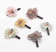1PC Korean Pearl and Flower Barrette(Random Color)