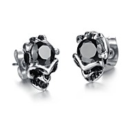 Skull Mosaic Quality AAA Zircon Earrings Fashion and Personality