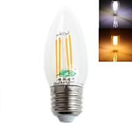 Zweihnder E26/E27 4 W 4 Dip LED 380 LM Warm White/Cool White C Decorative LED Filament Lamps AC 220-240 V