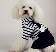 Dog Hoodie / Clothes/Jumpsuit Black Dog Clothes Winter Stripe Cosplay