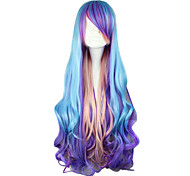 Punk Lolita Wig Inspired by Blue and Purple and Pink Mixed Color