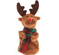 caixa de música de pelúcia elétrico de presentes do Natal dança cervos
