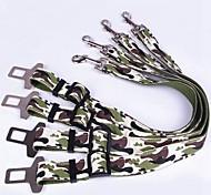 cinturón de seguridad de camuflaje color de seguridad de nylon de alta calidad para perros ancho 2.5cm