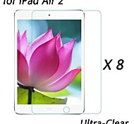 [8-Pack] Professional High Transparency LCD Crystal Ultra-Clear Screen Protector for iPad Air 2