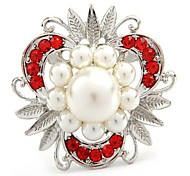 Beautiful Alloy And Imitation Pearl Brooches (Random Color)