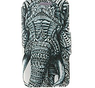 Kinston Left Side Of the Elephant Pattern PU Leather Full Body Case with Stand for Motorola Moto X