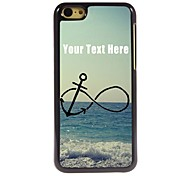 Personalized Phone Case - Anchor and Beach Design Metal Case for iPhone 5C
