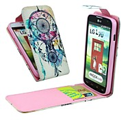 Dreamcatcher Vertical Flip  Full Body Case with Card Holder  for LG L70