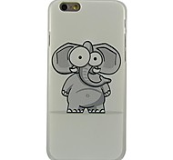 Cartoon Elephant Pattern Plastic Hard Back Cover for iPhone 6