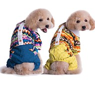 Dog Shirt / T-Shirt Yellow / Blue Dog Clothes Winter Cosplay