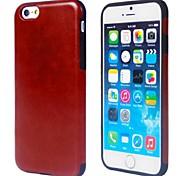 TPU solide de couleur avec PU étui en cuir pour iPhone 6 (couleurs assorties)