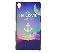 FITIN® I'm in Love Style Pattern Plastic Hard Case for Sony Xperia Z3