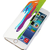 Dripping Paint Magnetic Flip Full Body Case with Hole for iPhone 6