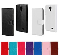 Solid Color PU Leather Full Body Case with Stand and Card Slot for LG F70 (Assorted Color)