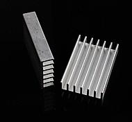 dissipatore di calore in alluminio / blocco elettronico di alluminio radiatore / raffreddamento - argento (30 x 20 x 6 mm) (10pcs)